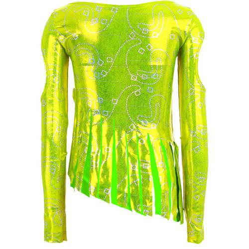 Youth Lime Fringe Frenzy Top : 1010C
