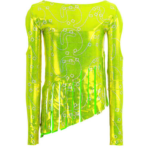 Youth Lime Fringe Frenzy Top : 1010C