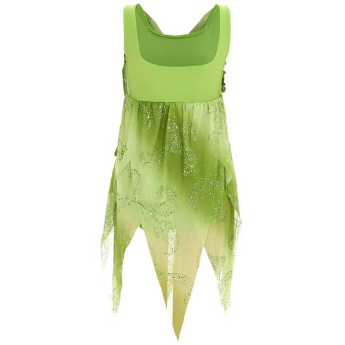 Enchanted Green Chiffon Lyrical Dress : 1260