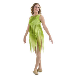 Enchanted Green Chiffon Lyrical Dress