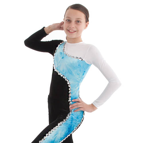 Youth Velvet Swirl Leotard : 1285C