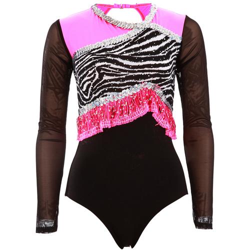 Girls Zebra Fringe Leo : 1335C