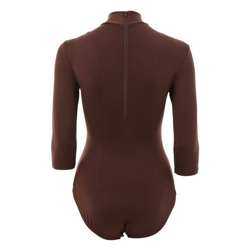 Brown 3/4 Sleeve Leotard : 1461