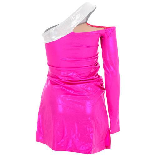 Raspberry Pocketbook Dress : 1581