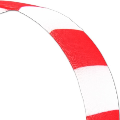 Red & White Stripe Headband : 56