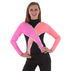 Youth Pink/Coral Criss-Cross Leotard