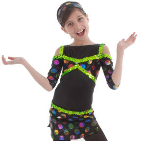 Girls Dancing Dots Leotard