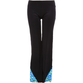 Kids Black Jazz Pants W/Inset