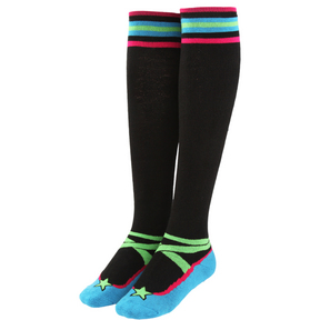 Lime/Black Striped Socks
