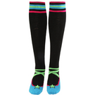 Lime/Black Striped Socks : A281