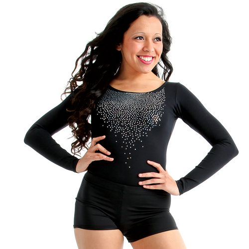 Alexandra Sequin Long Sleeve Leotard : AC1020