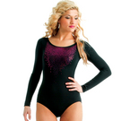 Alexandra Youth Sequin Long Sleeve Leotard : AC1020C