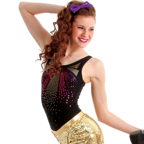 Alexandra Sequin Tank Leotard