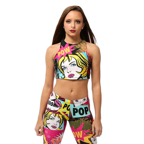 Adult Pow Crop Top : AC1065
