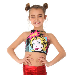 Girls Pow Crop Top