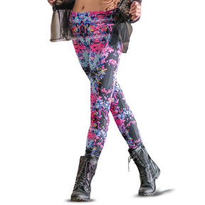 Girls Splatter High Waist Leggings