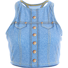 Girls Denim Crop Top : AC1085C