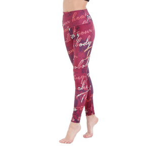 Adult Scroll Font Legging