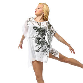 Adult Floral Waterfall Overdress