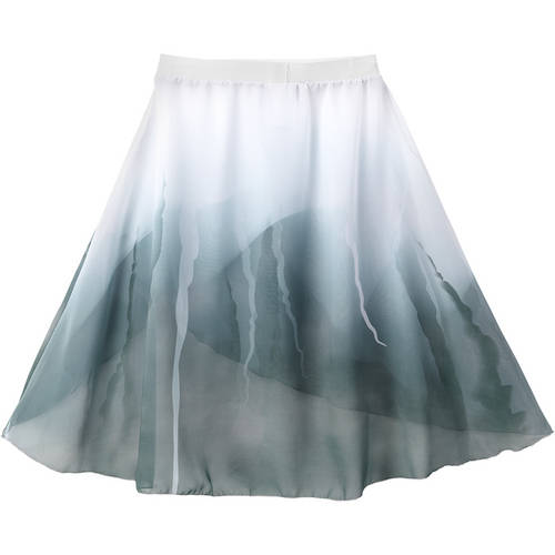 Layered Watercolor Skirt : AC1146
