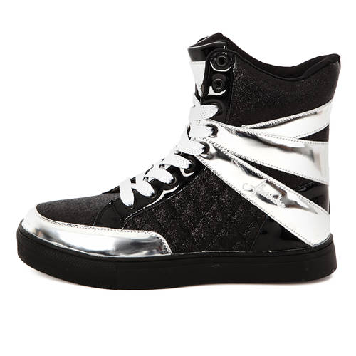 Youth Alexandra Glitter High Top Sneaker : AC12C