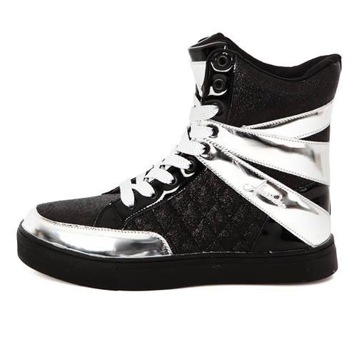 Youth Alexandra Glitter High Top Sneaker : AC12C