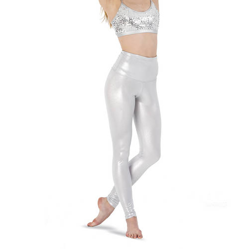 Girls Metallic High Waist Leggings : AC1203C