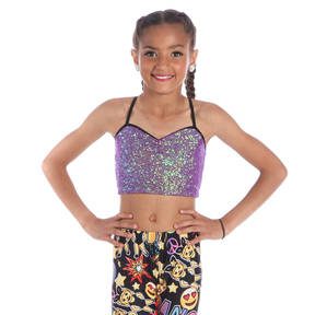 Youth Sequin Cami Bra