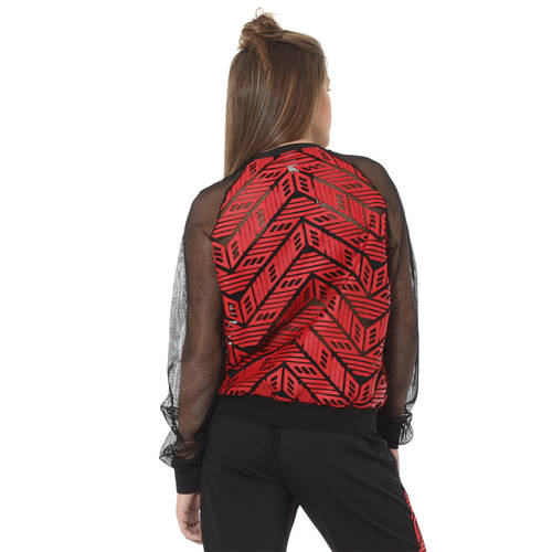 Chevron Pleather Bomber Jacket : AC2136