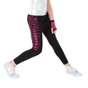 Alexandra Girls Sequin Jogger Pants