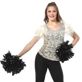 Alexandra Adult Puff Sleeve Sequin Top