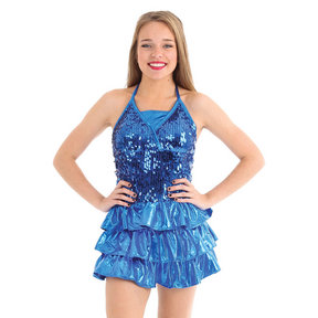 Alexandra Sequin Ruffle Dress
