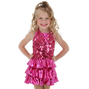 Alexandra Kids Sequin Ruffle Dress