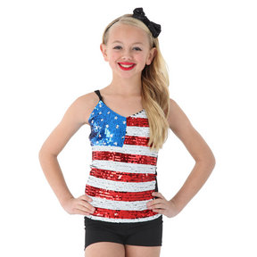 Alexandra Kids Sequin USA Tank