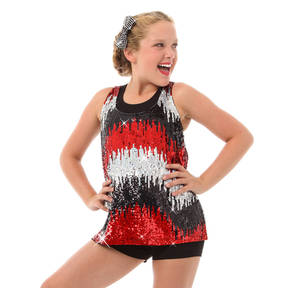 Alexandra Kids Sequin Waterfall Tank