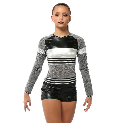 Long Sleeve Shimmer Biketard: AC4052