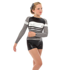 Youth Long Sleeve Shimmer Biketard