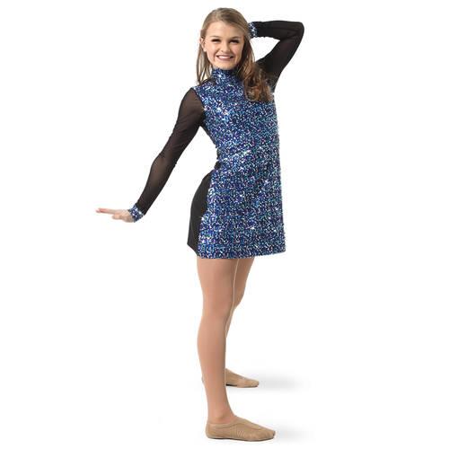 Mesh Long Sleeve Sequin Tunic : AC4073