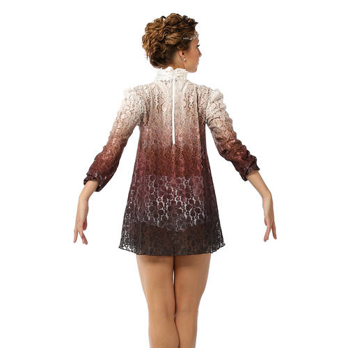 Burgundy Lace Dress : AC5020