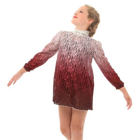 Youth Burgundy Lace Dress