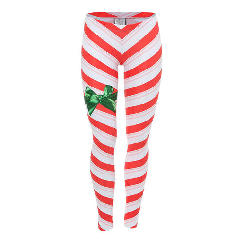 Youth Candy Cane Leggings : AC5064C