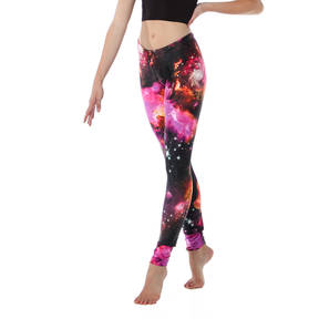 Youth Red Galaxy Legging