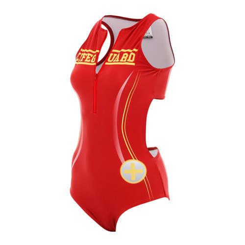 Lifeguard Zipper Front Leotard : AC5073