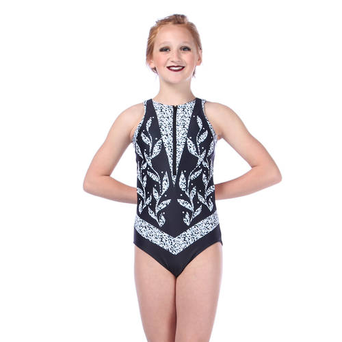 Youth Empress Zipper Front Leotard : AC5074C
