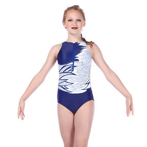 Youth Midnight Zipper Front Leotard