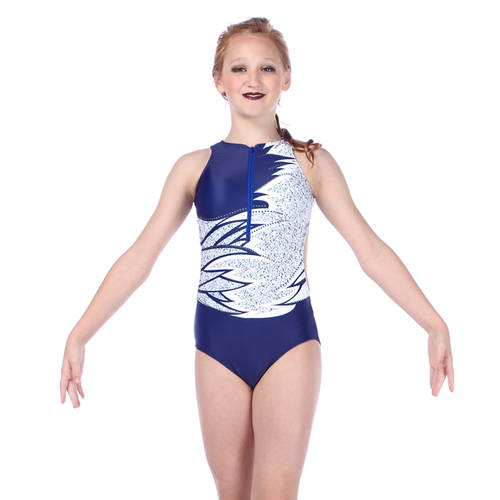 Youth Midnight Zipper Front Leotard : AC5076C