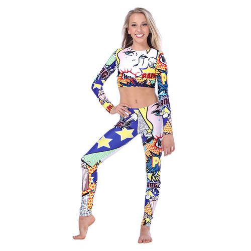 Royal Pop Art Leggings : AC5089