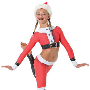 Youth Santa Crop Top