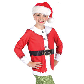 Youth Santa Long Sleeve Top