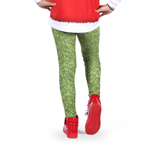 Youth Grumpy Grouch Christmas Leggings : AC5315C